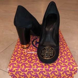 Black suede Tory Burch boots EXCELLENT CONDITION